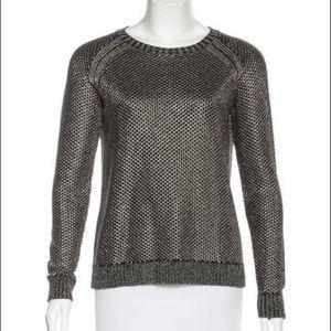 Maje Sweater with Metallic Thread